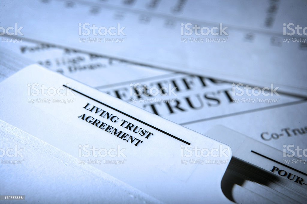 Living Trust Documents royalty-free stock photo