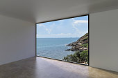 Living villa Indoor Empty loft style on Sea view