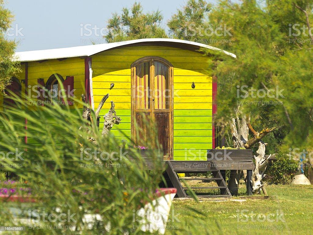 Living wagon stock photo