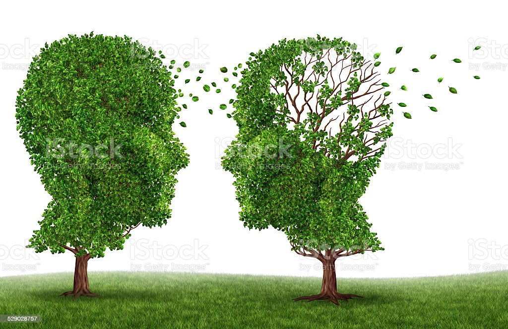 Living With A Dementia Patient stock photo