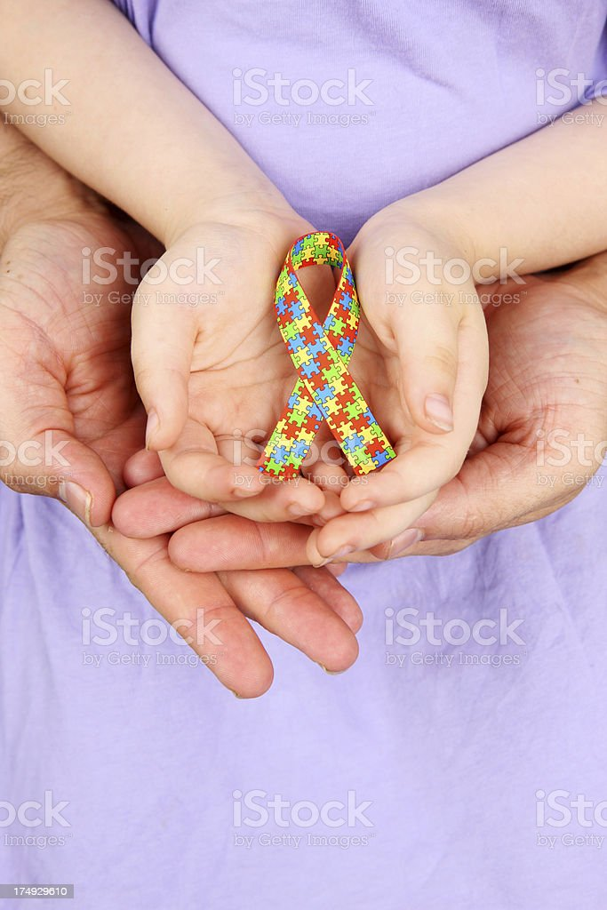 Living with Autism stock photo