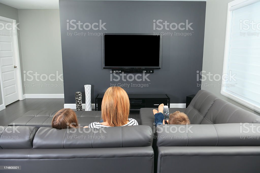 Livingroom - Back Family royalty-free stock photo