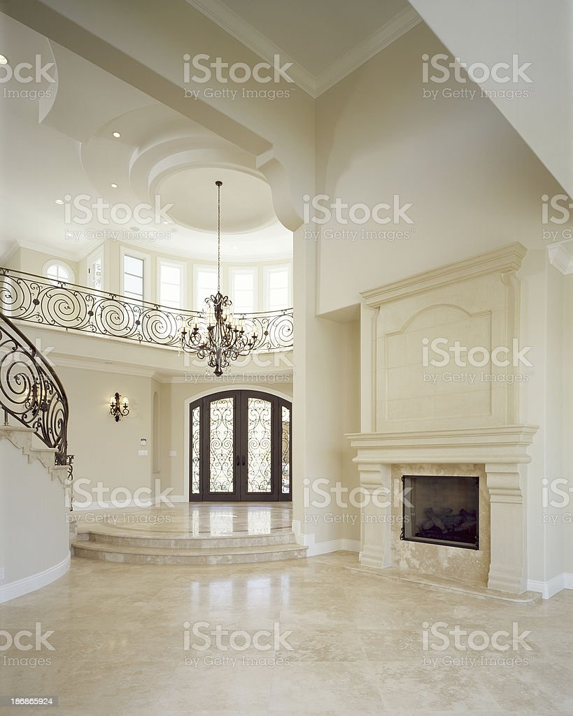 Livingroom inside Mansion stock photo