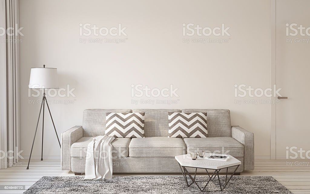 Living-room interior. 3d rendering. stock photo