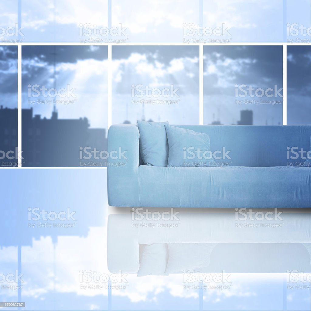Living-room with  sofa royalty-free stock photo