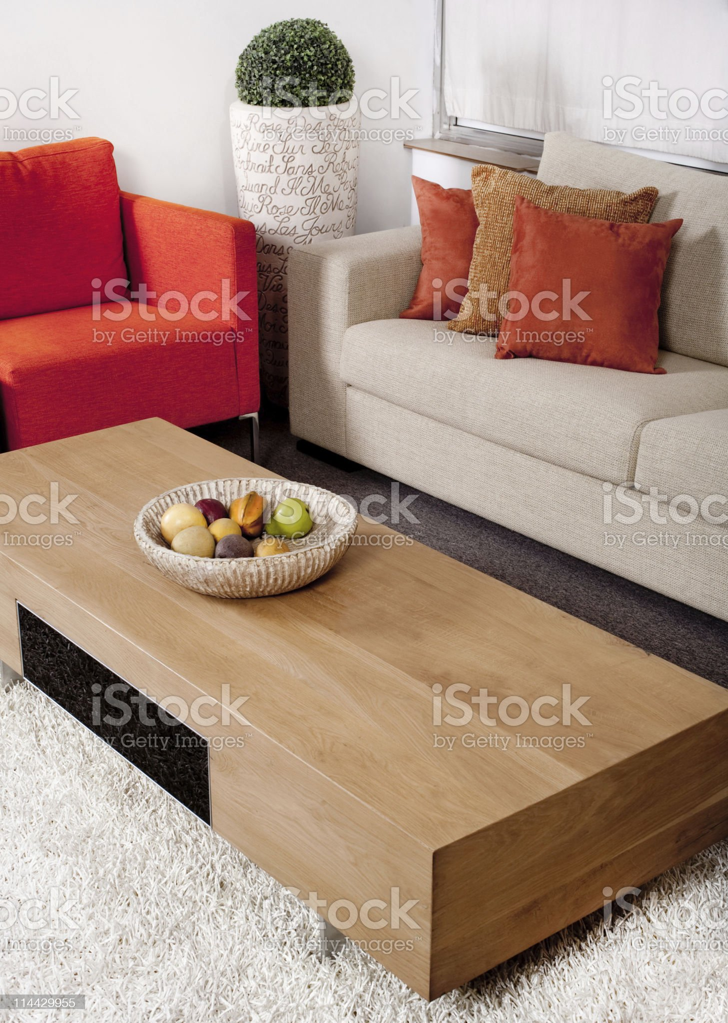 Living-room with the classic couches royalty-free stock photo