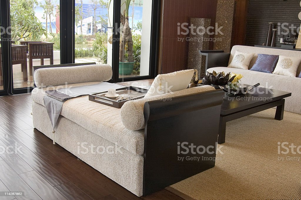 living-room with the modern furniture royalty-free stock photo