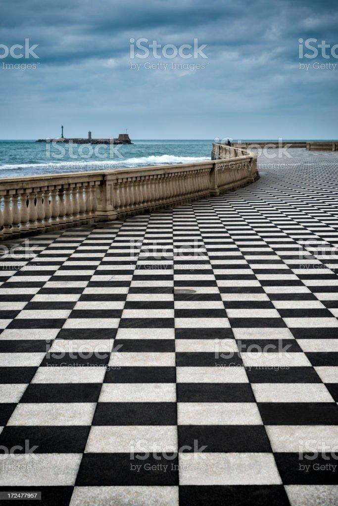 Livorno promenade royalty-free stock photo