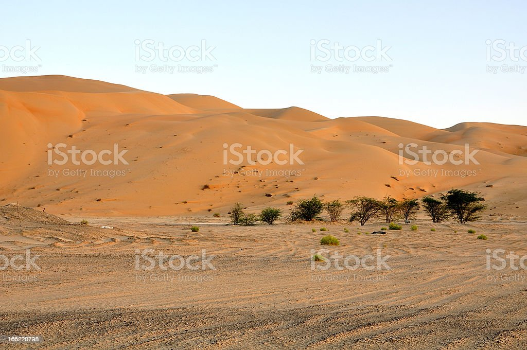 Liwa sand dunes stock photo