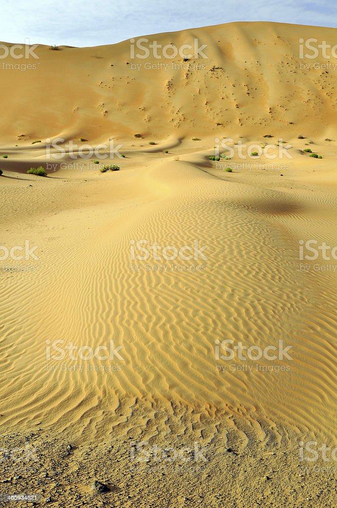 Liwa sand dunes &  ripples stock photo