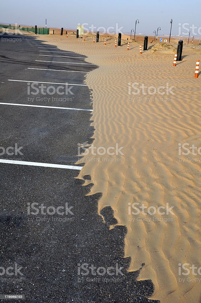 Liwa sand ripples stock photo