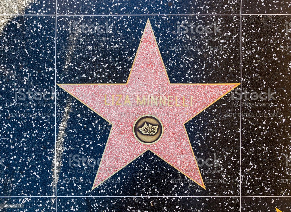 Liza Minellis star on Hollywood Walk of Fame stock photo