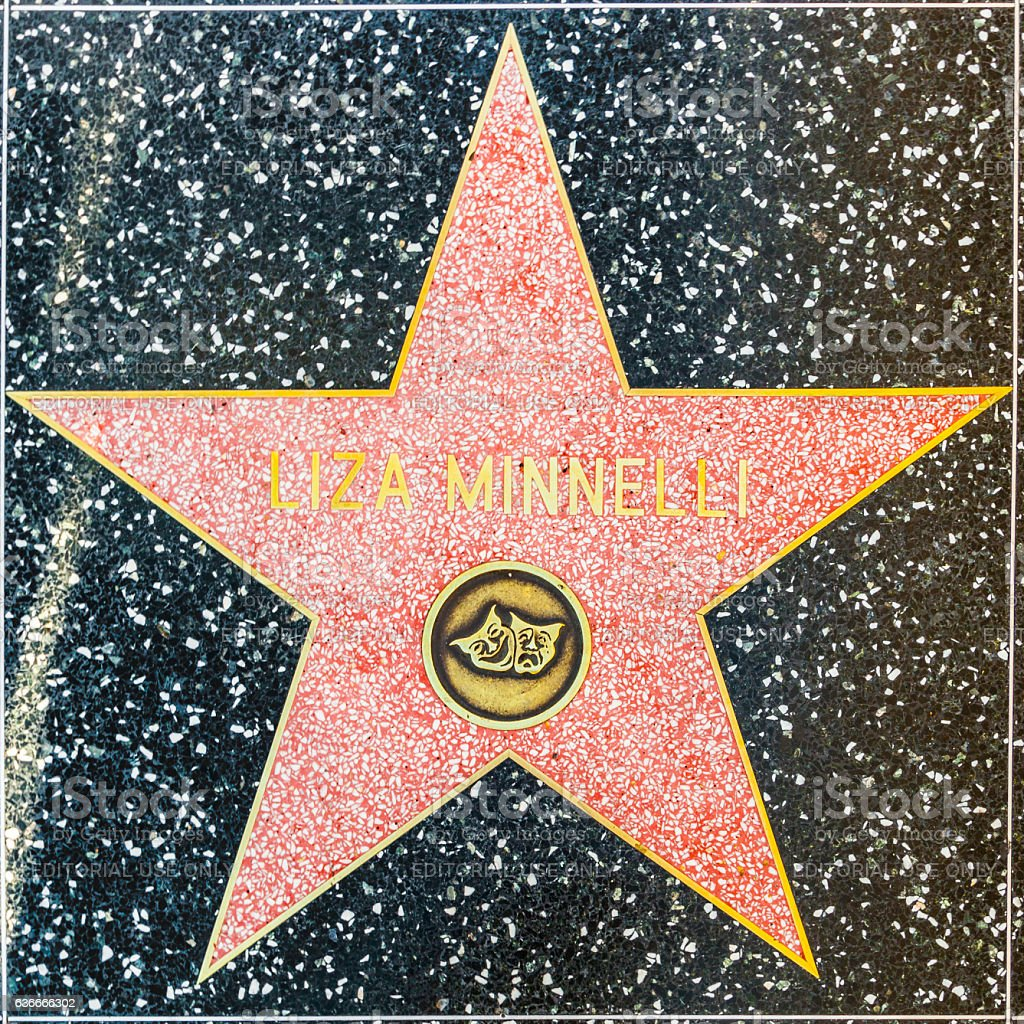 Liza Minelli's star on Hollywood Walk of Fame stock photo