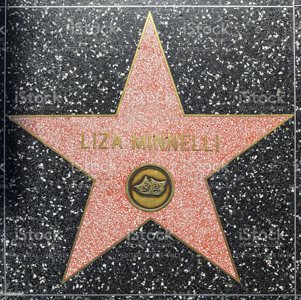 Liza Minnellis star on Hollywood Walk of Fame royalty-free stock photo