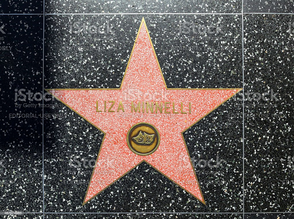 Liza Minnellis star on Hollywood Walk of Fame stock photo