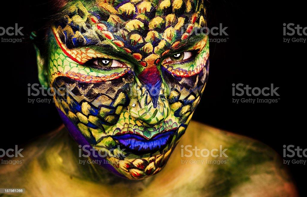 Lizard Face royalty-free stock photo
