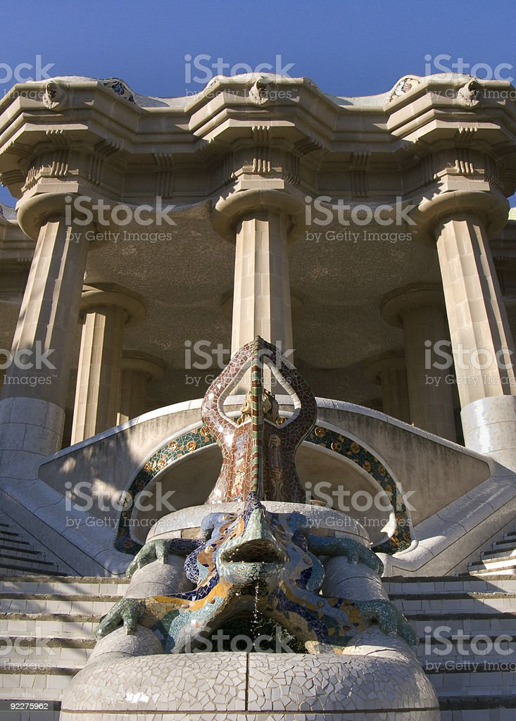 Lizard Fountain & Market Place royalty-free stock photo