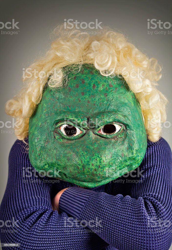 Lizard Mask Sweater stock photo