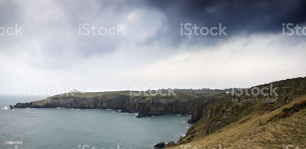 Lizard Point and lighthouse landscape Cornwall England royalty-free stock photo