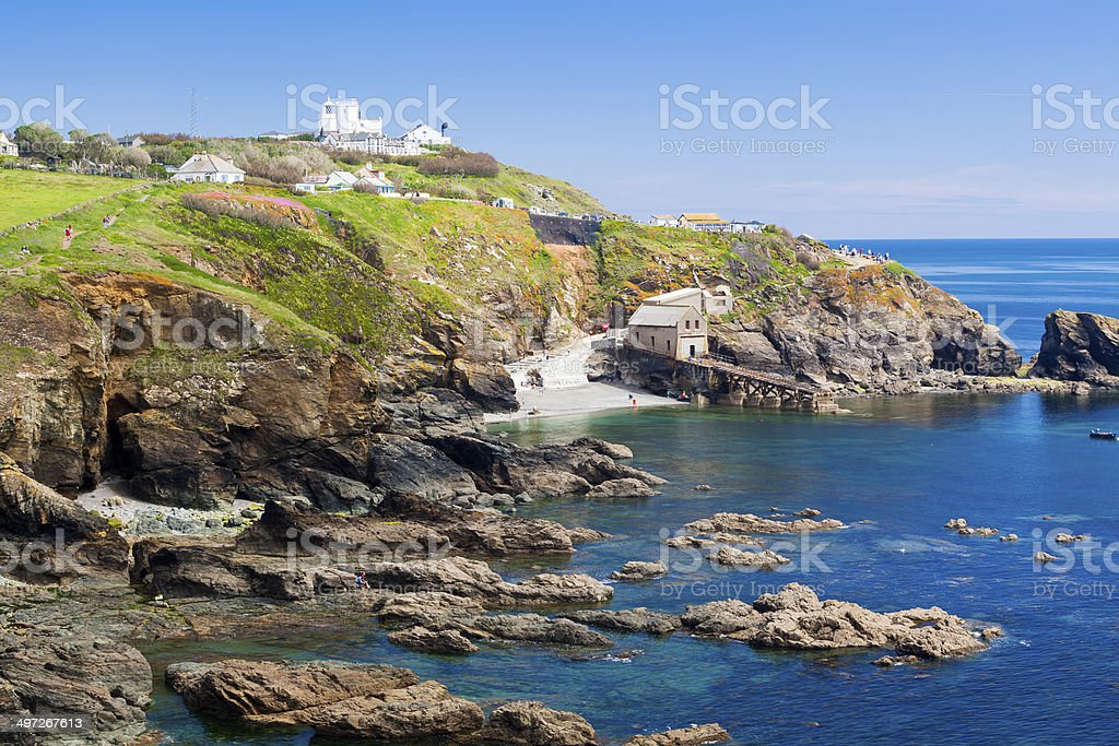 Lizard Point Cornwall England UK stock photo
