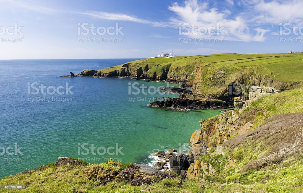 Lizard Point in Cornwall UK stock photo