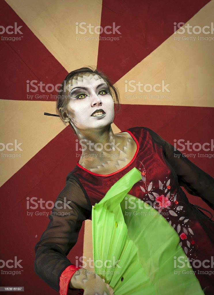 Lizard queen royalty-free stock photo