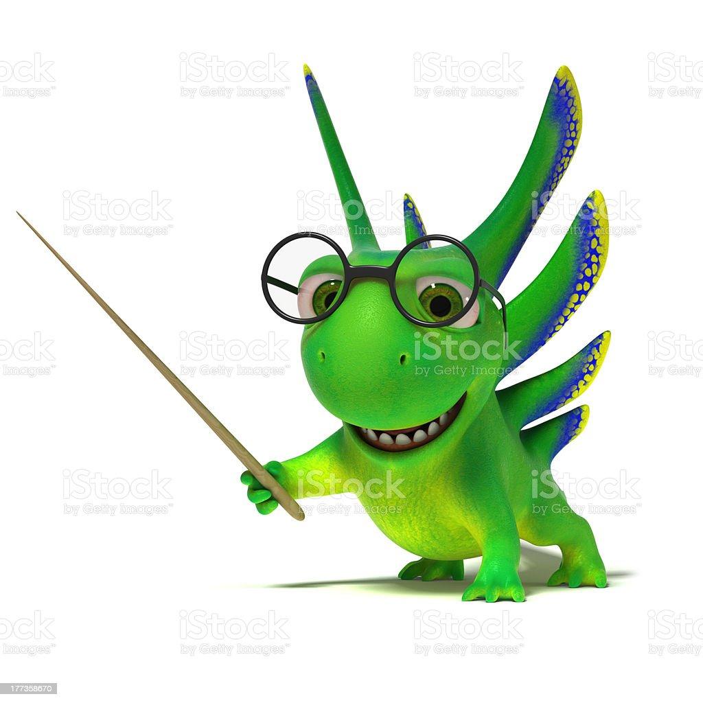 Lizard teacher royalty-free stock photo