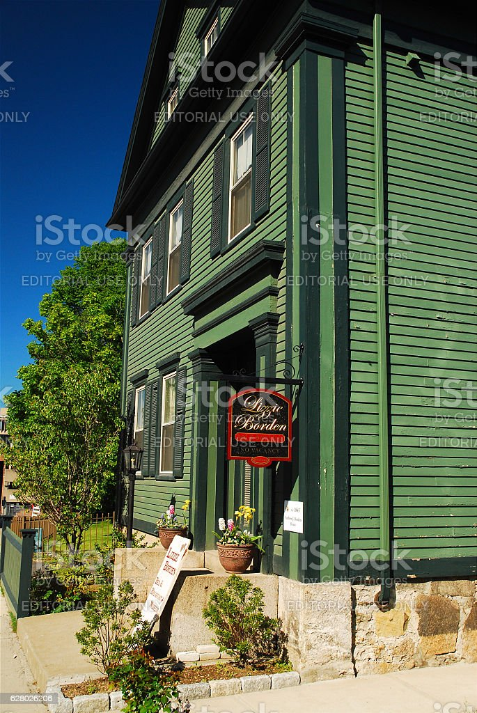 Lizzie Borden House, Fall River stock photo