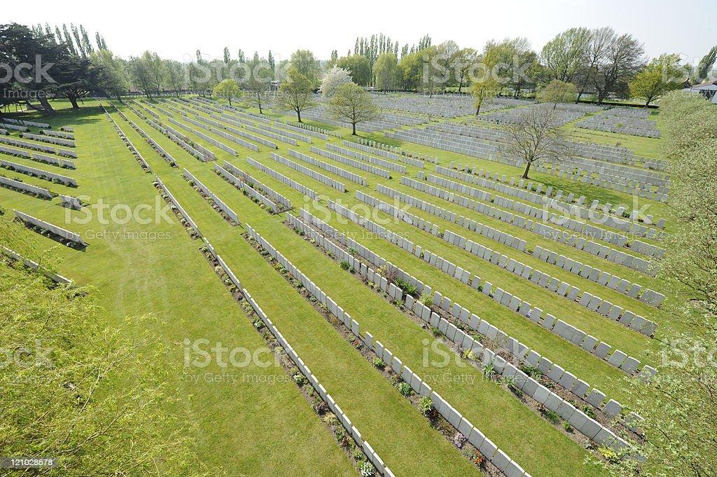 Ljissenthoek Military Cemetery, Poperinge royalty-free stock photo