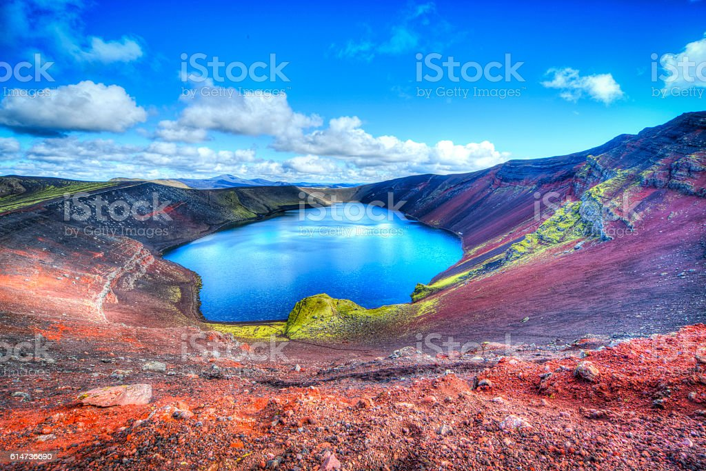 Ljotipollur crater stock photo