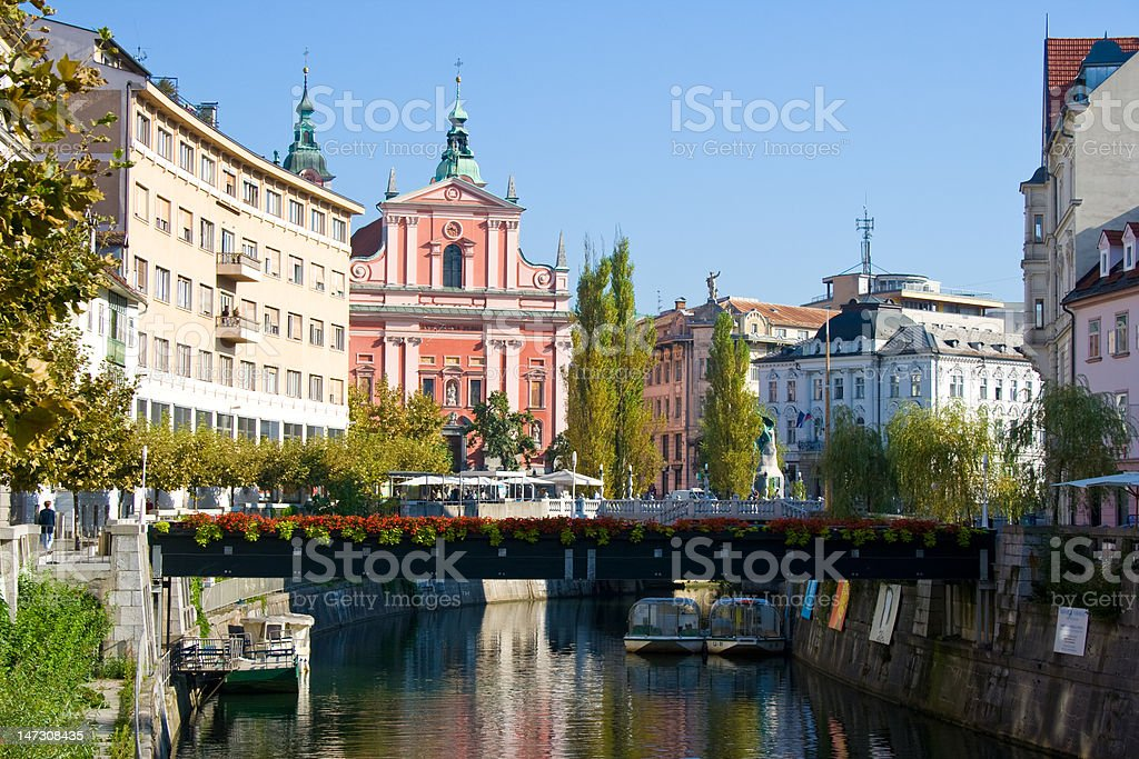 Ljubljana, capital of Slovenia stock photo