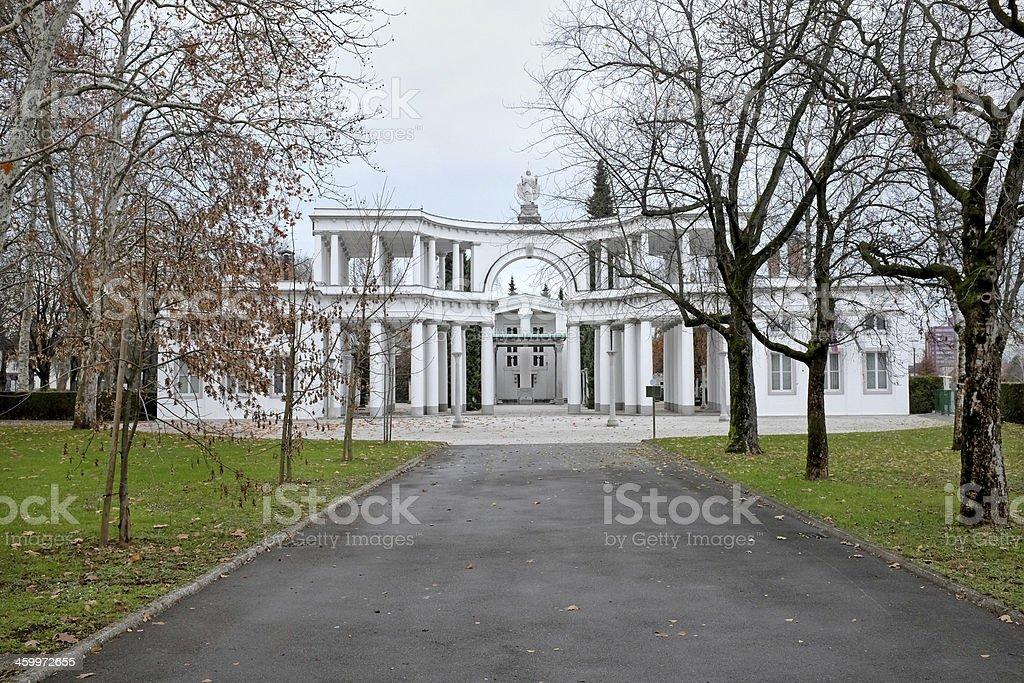 Ljubljana Central cemetery (Zale) stock photo