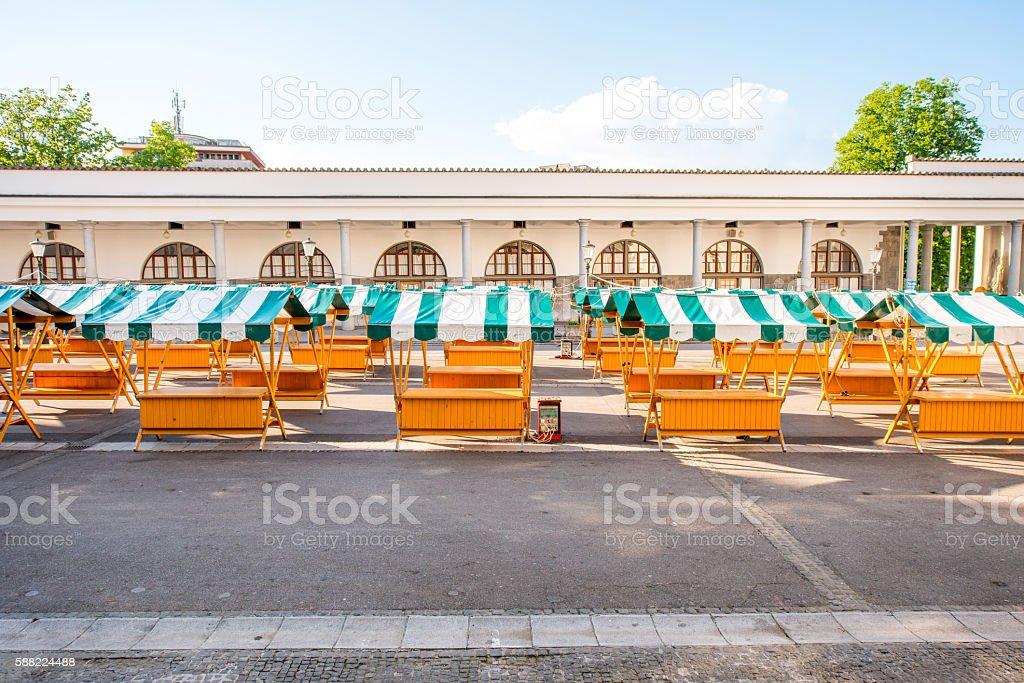Ljubljana city in Slovenia stock photo