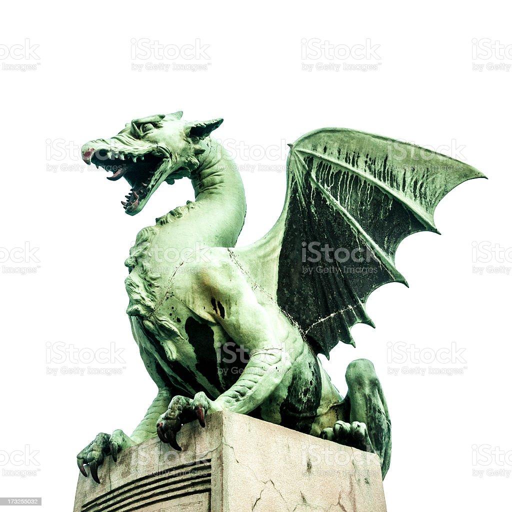 Ljubljana Dragon Bridge Slovenia stock photo