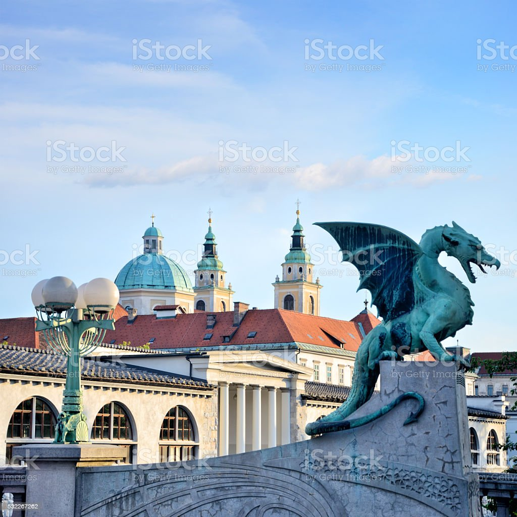 Ljubljana Dragon stock photo