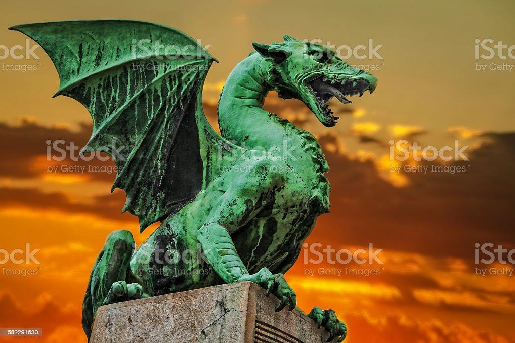 Ljubljana dragon-Slovenija stock photo