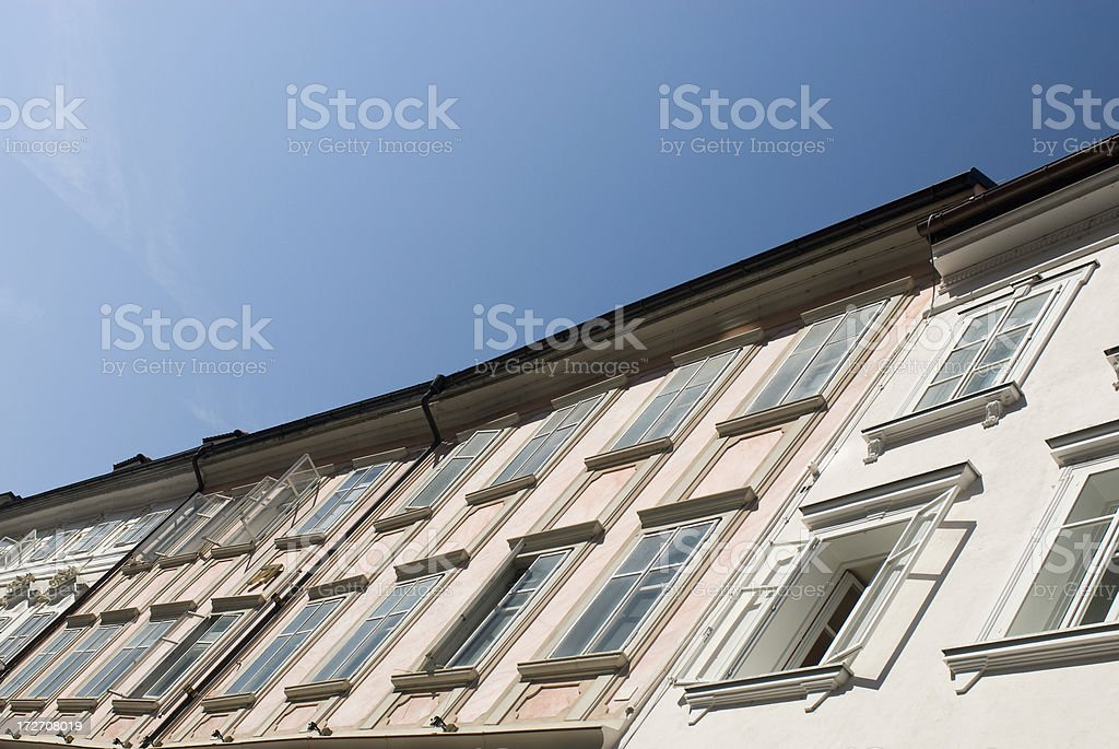 Ljubljana Houce Facade stock photo