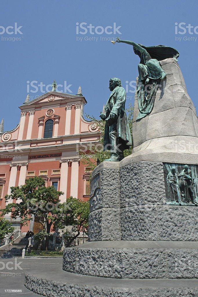 Ljubljana Landmarks stock photo
