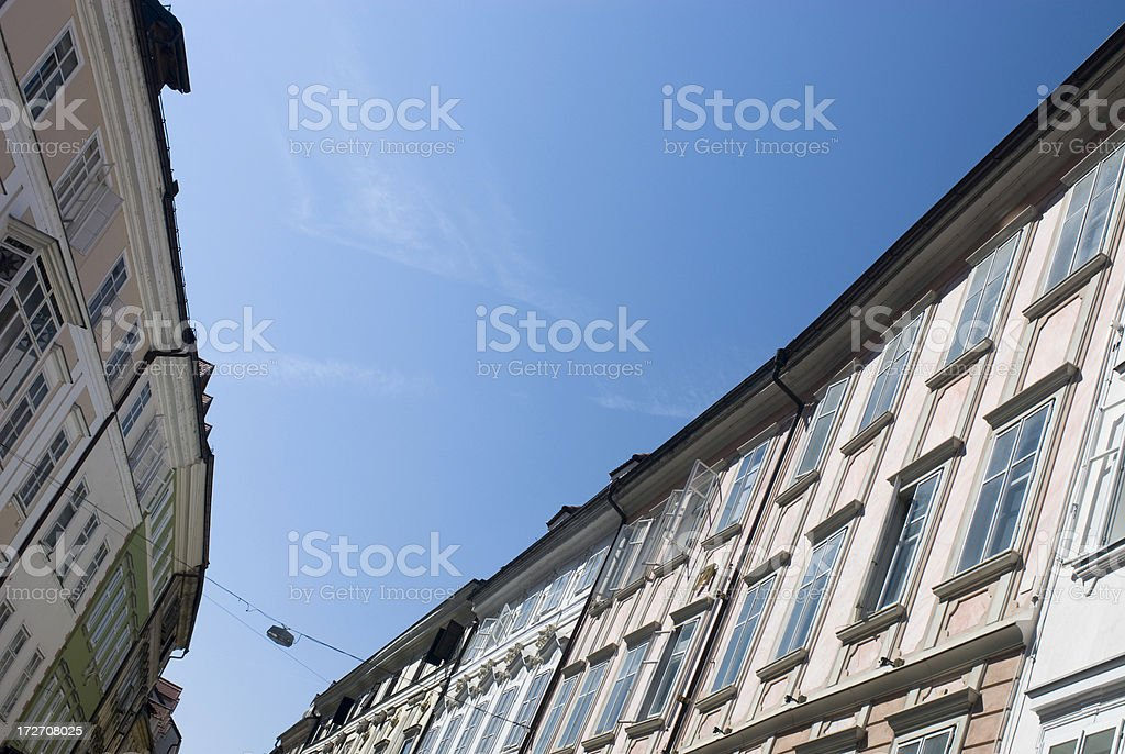 Ljubljana Old Town Facade stock photo