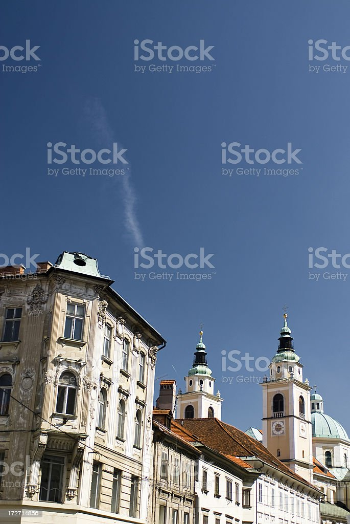 Ljubljana Old Town royalty-free stock photo