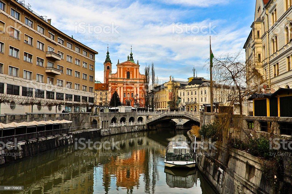 Ljubljana Old Town stock photo
