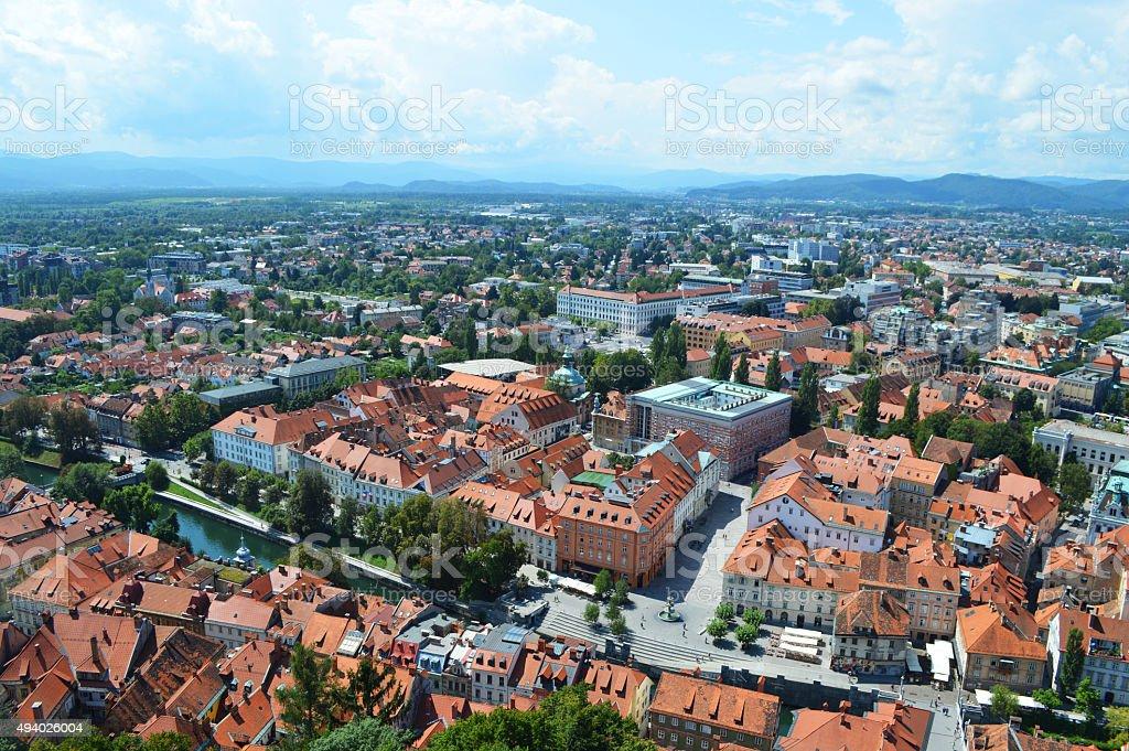 panorama en ljubljana, Eslovenia foto de stock libre de derechos