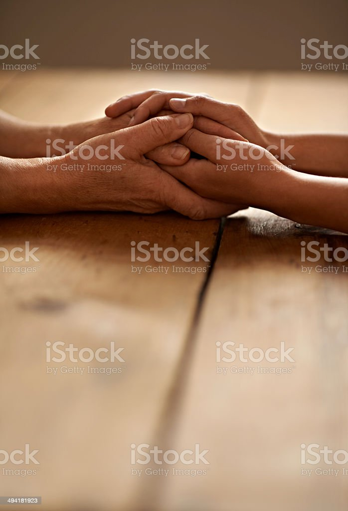 I'll always be here for you stock photo