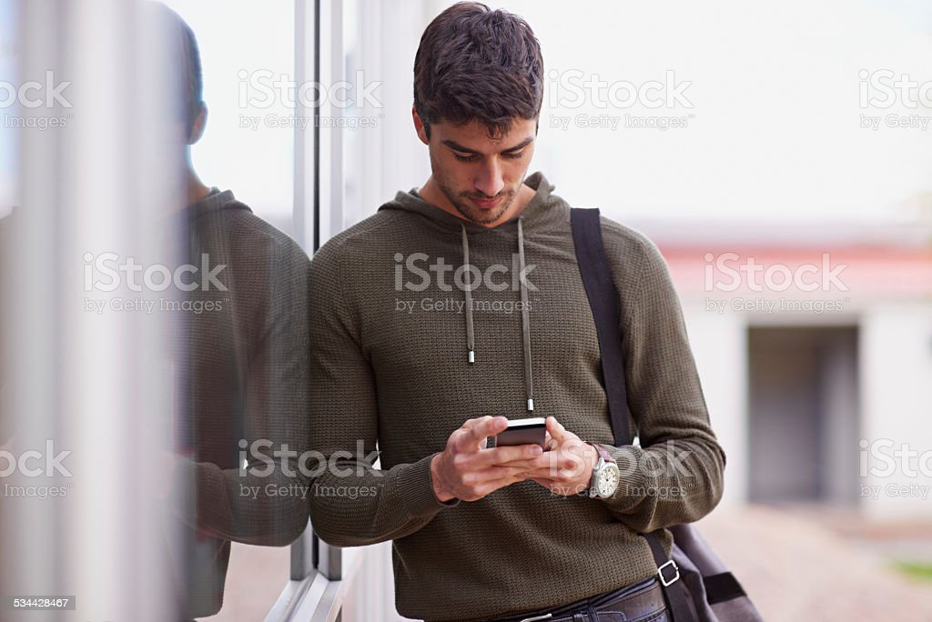 I'll be there after class... stock photo