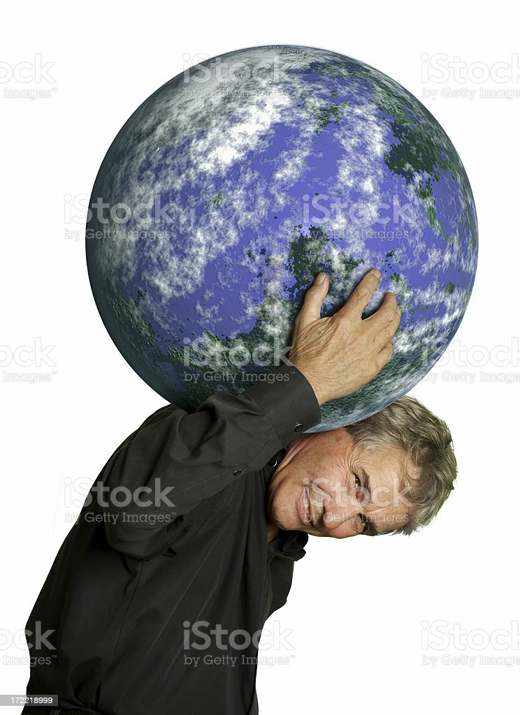 I'll carry your world stock photo