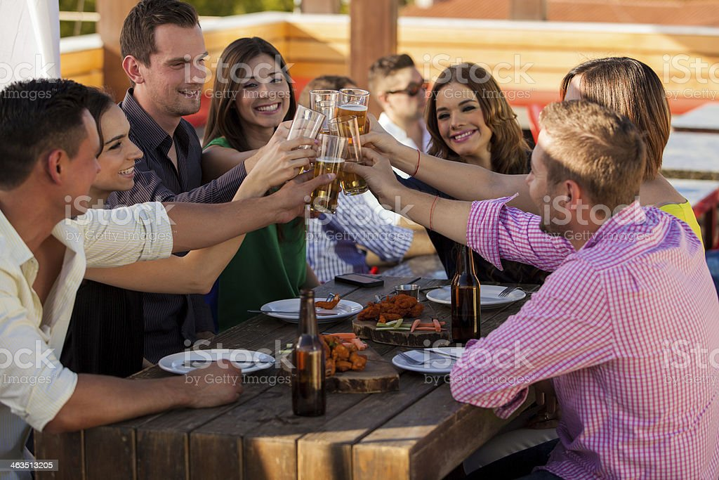 I'll drink to that! stock photo