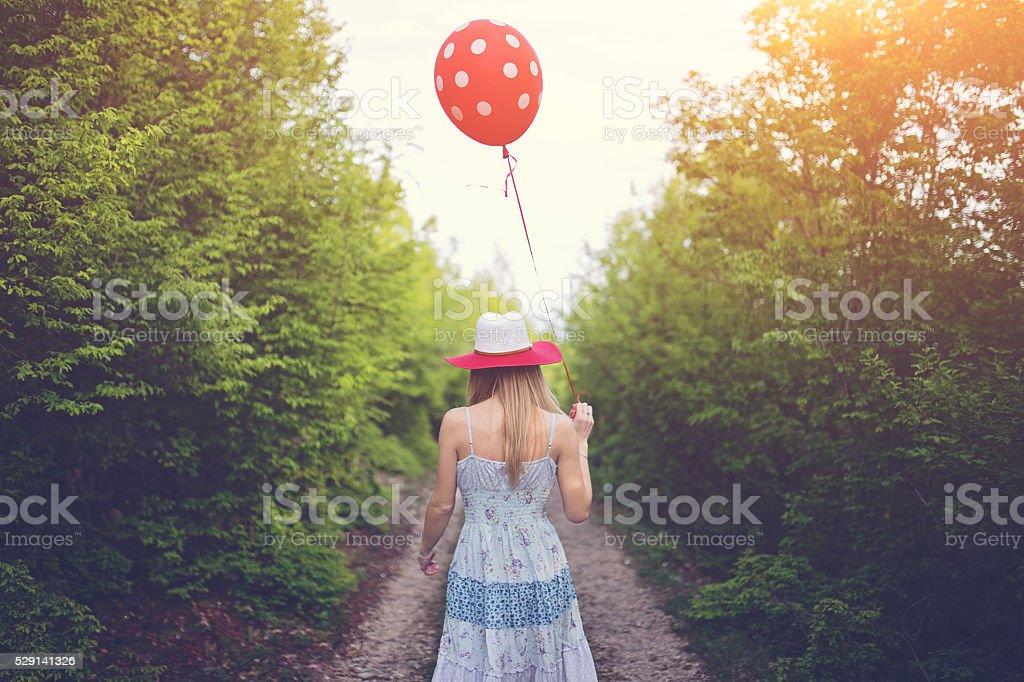I'll follow the ballon stock photo