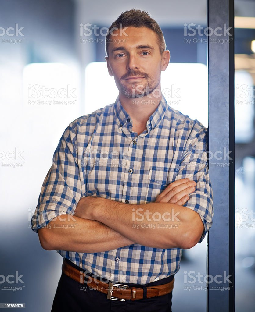I'll get the job done for you stock photo