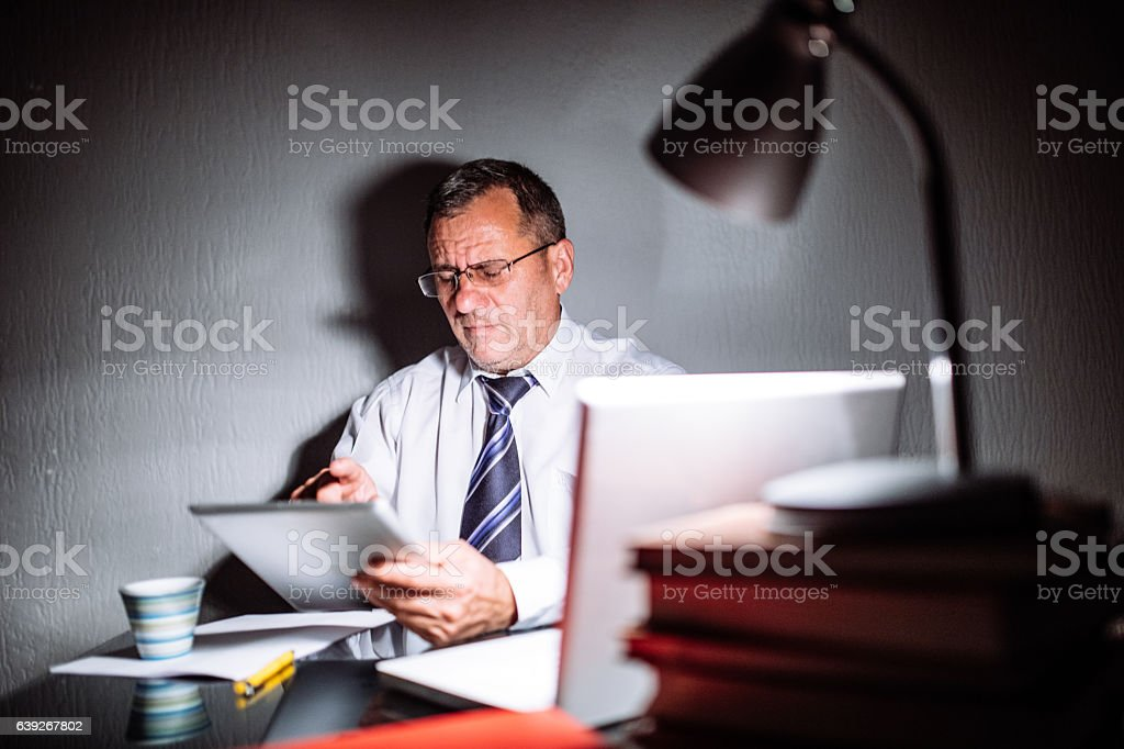 I'll get the job done, no matter the time stock photo