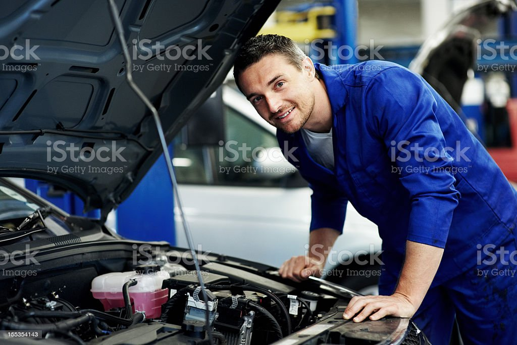 'I'll have her fixed in no time at all!' royalty-free stock photo
